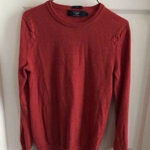 XS Rust J Crew Slim 100 % Merino Wool Sweater